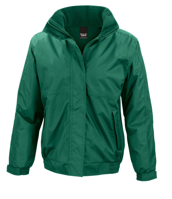 Womens Core Channel Jacket Womens Coats Result Core Bottle Green XS
