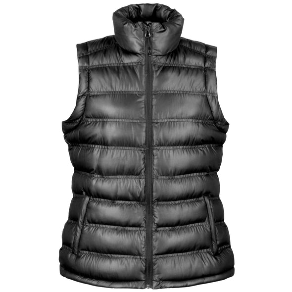 Womens Ice Bird Padded Gilet Womens Bodywarmers Result Urban Black XS
