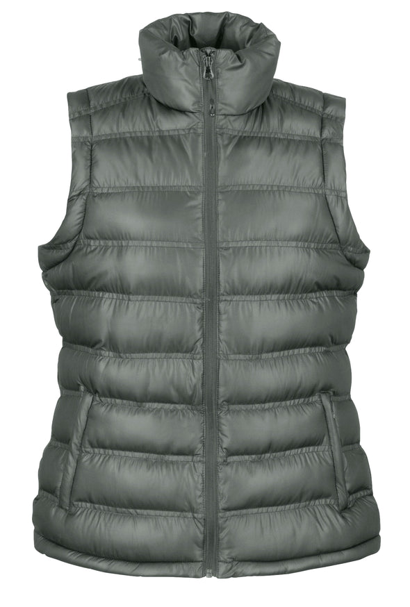 Womens Ice Bird Padded Gilet Womens Bodywarmers Result Urban Frost Grey XS
