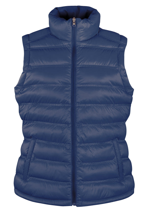 Womens Ice Bird Padded Gilet Womens Bodywarmers Result Urban Navy XS