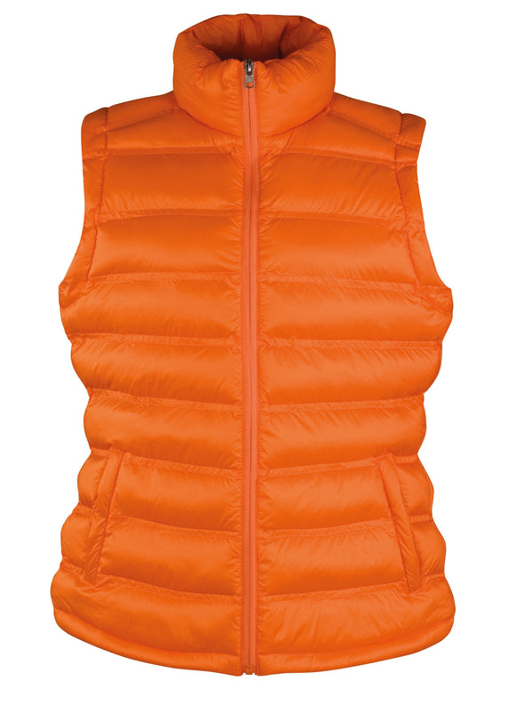 Womens Ice Bird Padded Gilet Womens Bodywarmers Result Urban Orange XS