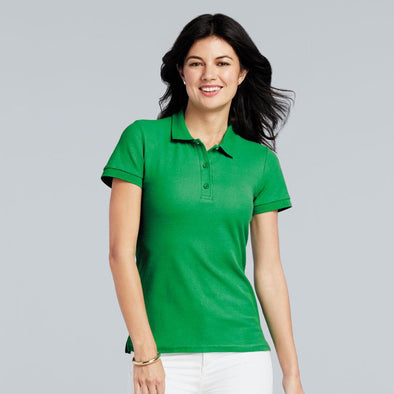 Womens Premium Cotton Double Pique Polo Womens Polos Gildan