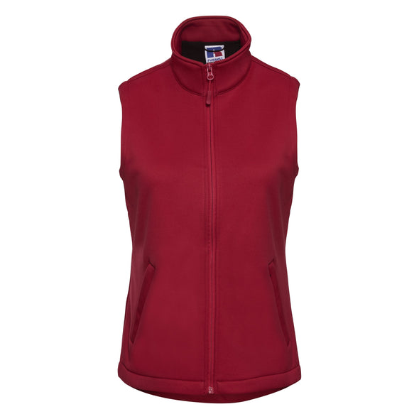 Womens Smart Softshell Gilet Womens Bodywarmers Russell Classic Red XS