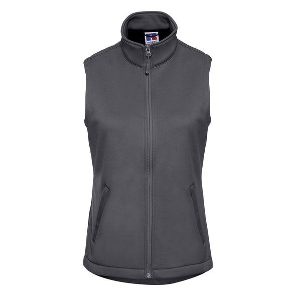 Womens Smart Softshell Gilet Womens Bodywarmers Russell Convoy Grey XS