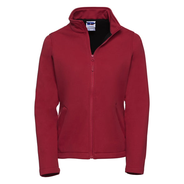 Womens Smart Softshell Jacket Womens Softshell Jackets Russell Classic Red XS