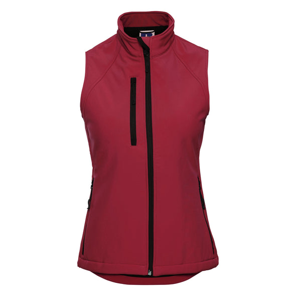 Womens Softshell Gilet Womens Bodywarmers Russell Classic Red XS