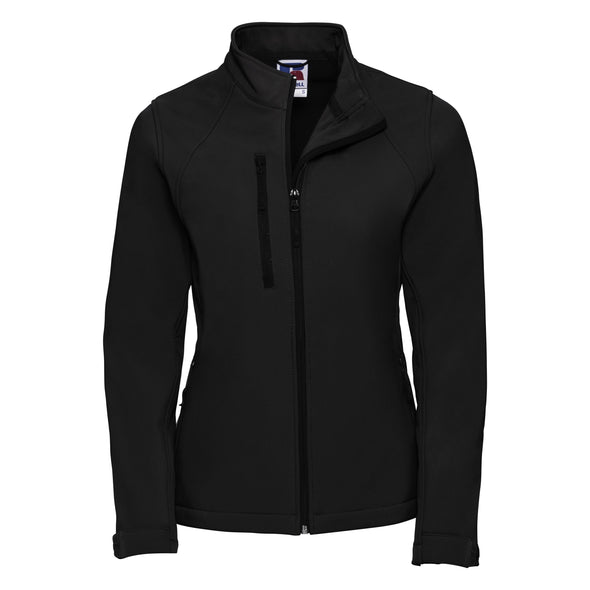 Womens Softshell Jacket Womens Softshell Jackets Russell Black XS