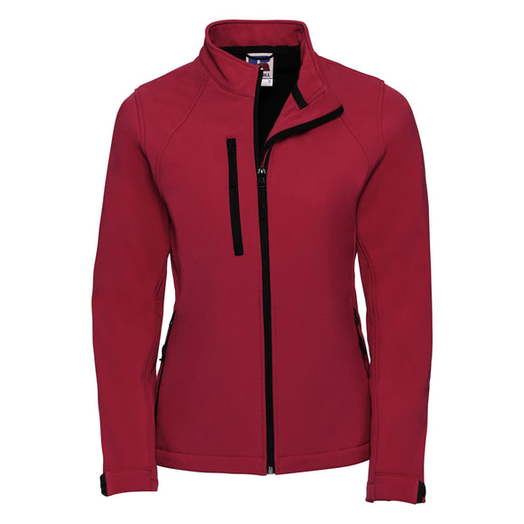 Womens Softshell Jacket Womens Softshell Jackets Russell Classic Red XS
