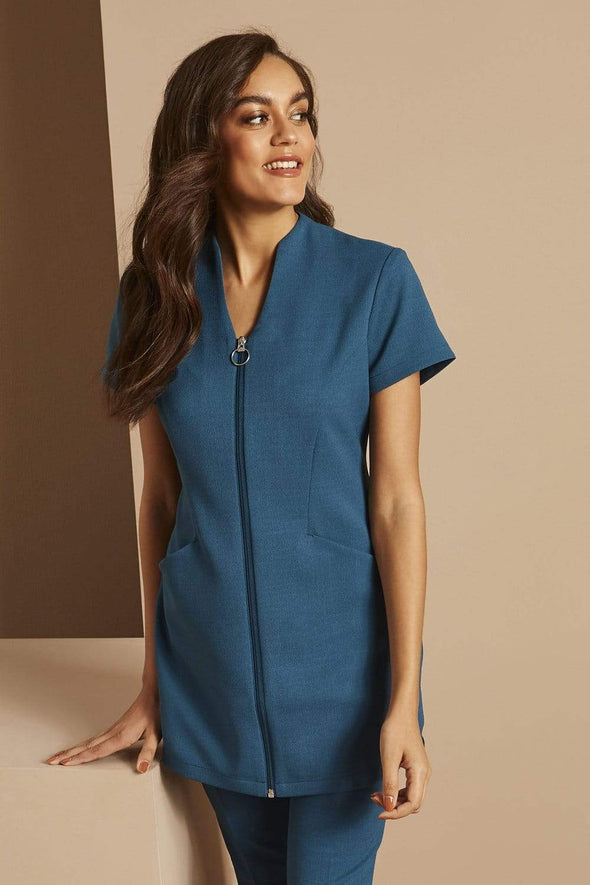 Zip Tunic with Pockets Beauty Tunics Simon Jersey Teal 6