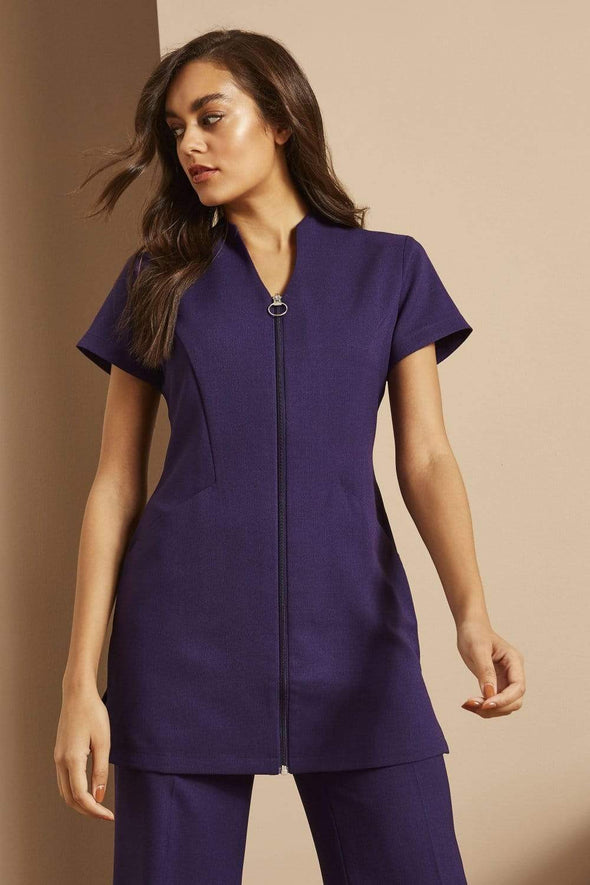 Zip Tunic with Pockets Beauty Tunics Simon Jersey Violet 6