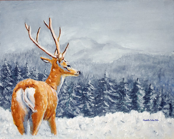 Deer Christmas Card Greetings and Note Cards      Prints