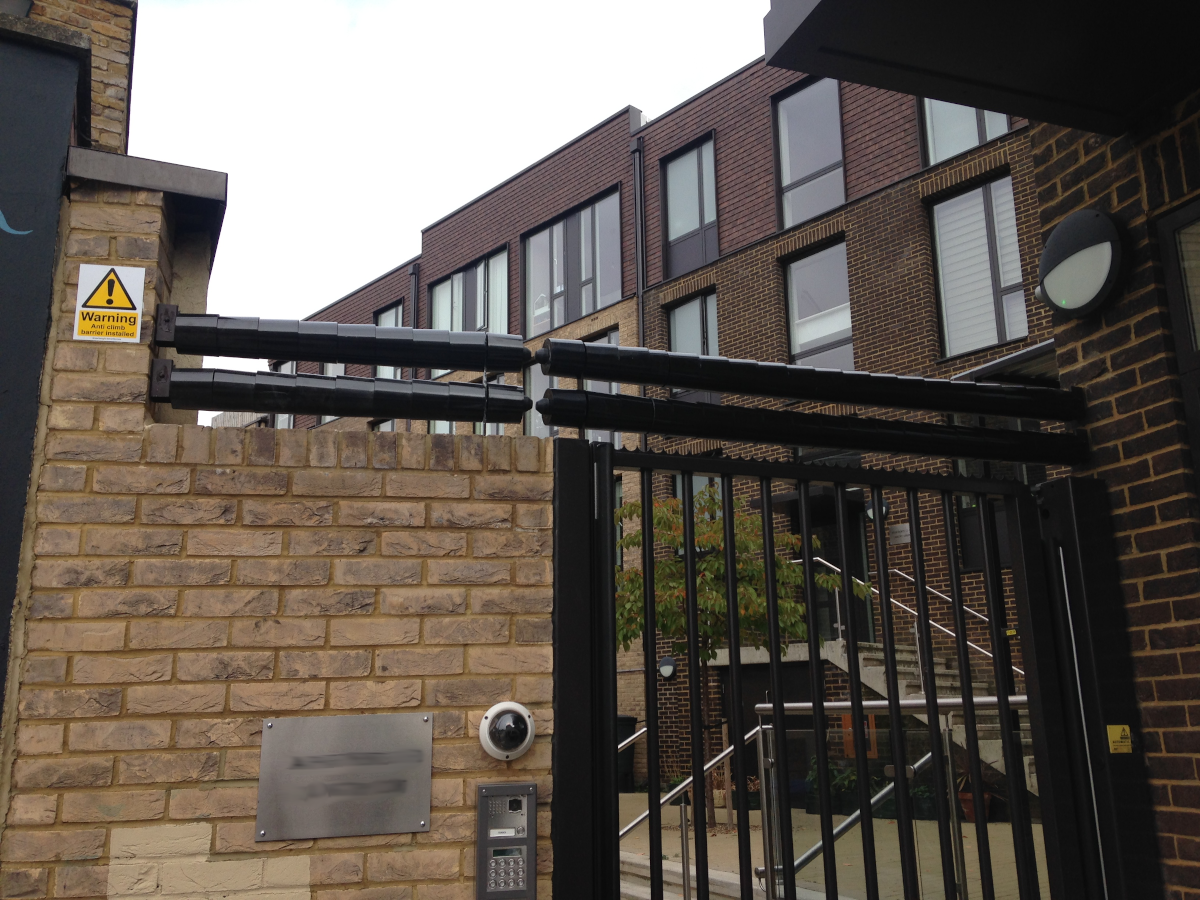 Double Roller Barrier protection for London apartment building.
