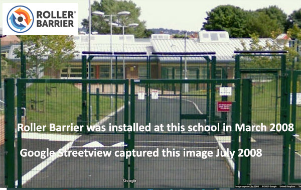 School Gates protected with Roller Barrier in 2008