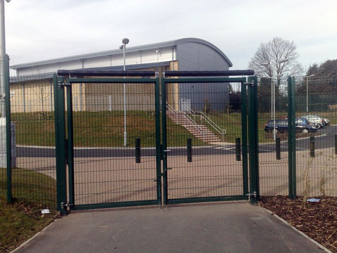 roller barrier on school gates
