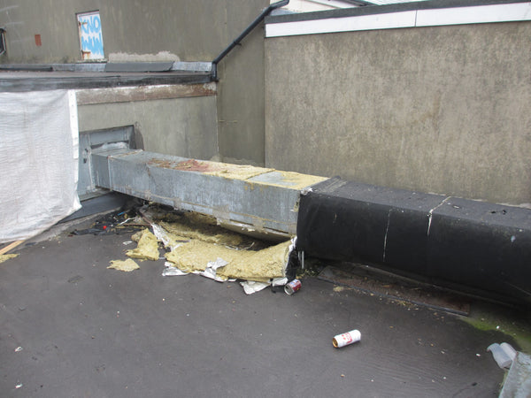 Rooftop Ducting Damage from Free Runners
