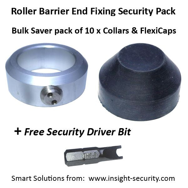 Shaft End Fixing for Roller Barrier and Vanguard – Value Pack of 10 collars plus Tool