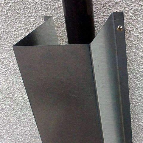 Anti-Climb Downpipe Cover – galvanised finish | Roller Barrier