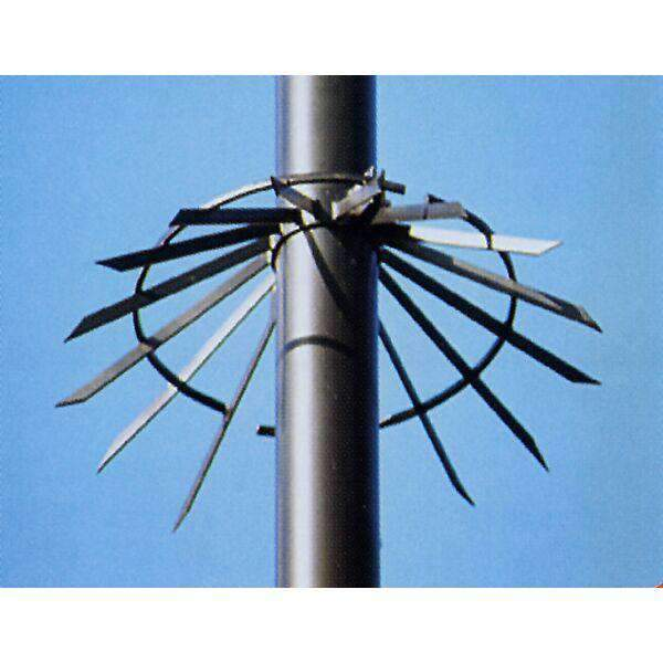 "Spiked Anti Climb Collars for Round Poles – pole diameters 76-89 (3.0 or 3.5"") 