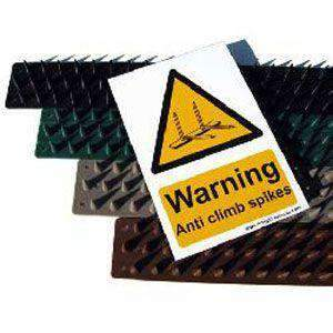 Anti Climb Prikla Hinge-Strip – 6 metre pack with Hi Viz Warning Sign | Roller Barrier
