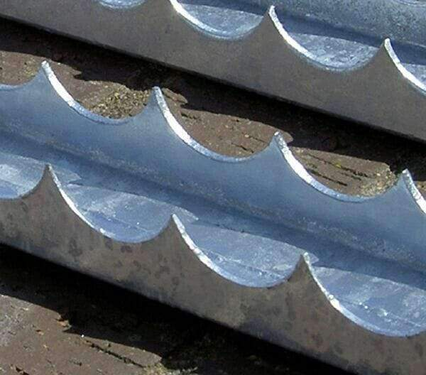 Razor Comb (U channel) security spikes – 1.8 metre length – galvanised finish | Roller Barrier