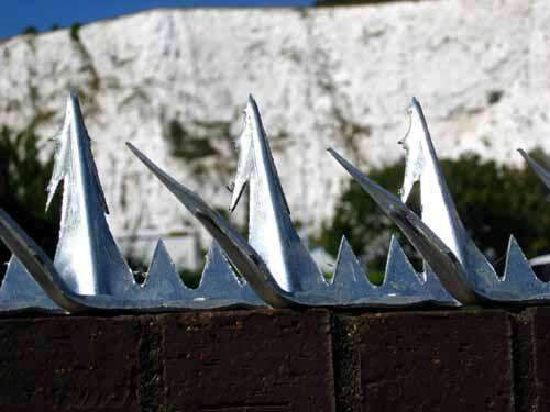 Razor Spike 11 – Anti Climb Spikes – 1.5 metre length – galvanised finish | Roller Barrier