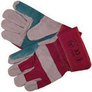 Heavy Duty Reinforced Rigger Gloves – Size:Large – handling anti climb spikes etc | Roller Barrier