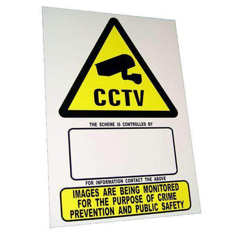 Warning Sign – CCTV – A4 size individual sign | Roller Barrier