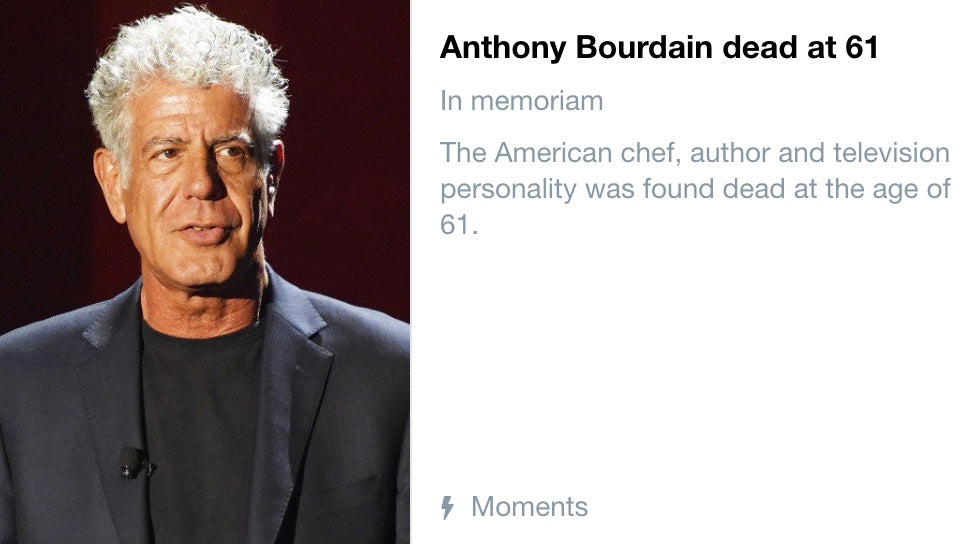 Rest In Peace Anthony Bourdain
