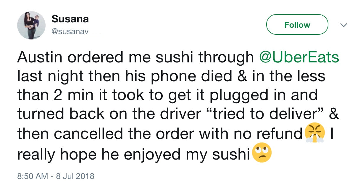 Why a Dead Phone Has Your UberEats Driver Eating Your Sushi, Vol. 23