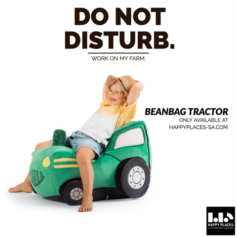 BEANBAG KIDDING TRACTOR - Happy Places Furniture