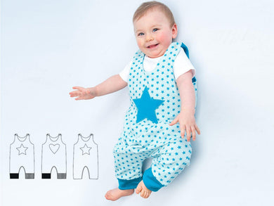 Baby dungaree sewing pattern ebook pdf ALBERTO