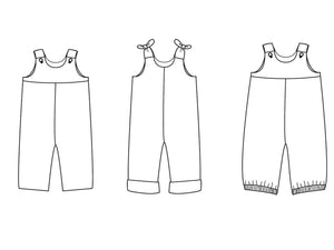 Baby overall sewing pattern ebook  pdf with straps BOBBY
