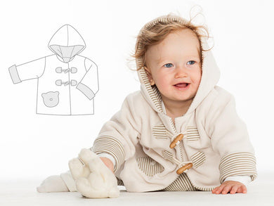 Baby duffle coat sewing pattern ebook pdf BRIO