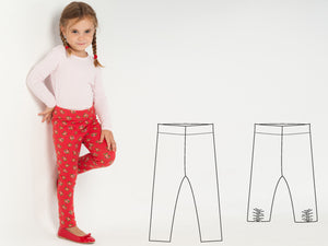 Baby girl leggings sewing pattern ebook pdf ENNA