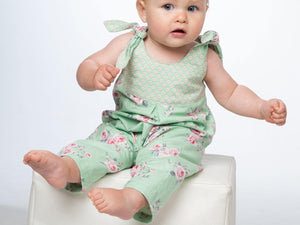 Baby girls overall sewing pattern ebook pdf LOTTE