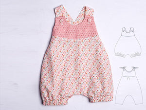 Baby overall sewing pattern pdf LUNA