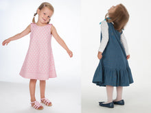 Laden Sie das Bild in den Galerie-Viewer, Baby girls dress sewing pattern ebook pdf STEFFI + SIENA