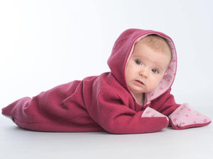Baby jumpsuit sewing pattern ebook pdf with hood SOLE