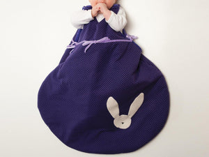 Baby sleep sack sewing pattern with cuddly toy bunny TONDO and TONDINO