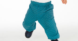 Easy kids baby pants sewing pattern for boys + girls with elastic band and hemline. Toddler sweatpants for beginner TORINO by Patternforkids