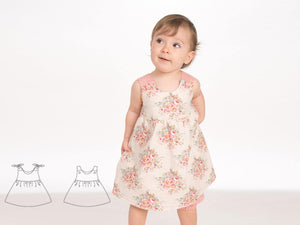 Baby Pinafore dress for girls sewing pattern pdf CLARA