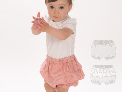 Baby diaper cover bloomers sewing pattern ebook pdf EMI