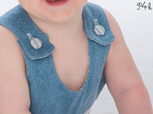 Baby dungaree sewing pattern ebook pdf BOBBY + LILLI&BO