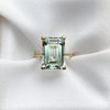 Bold Emerald Cut Green Amethyst Ring