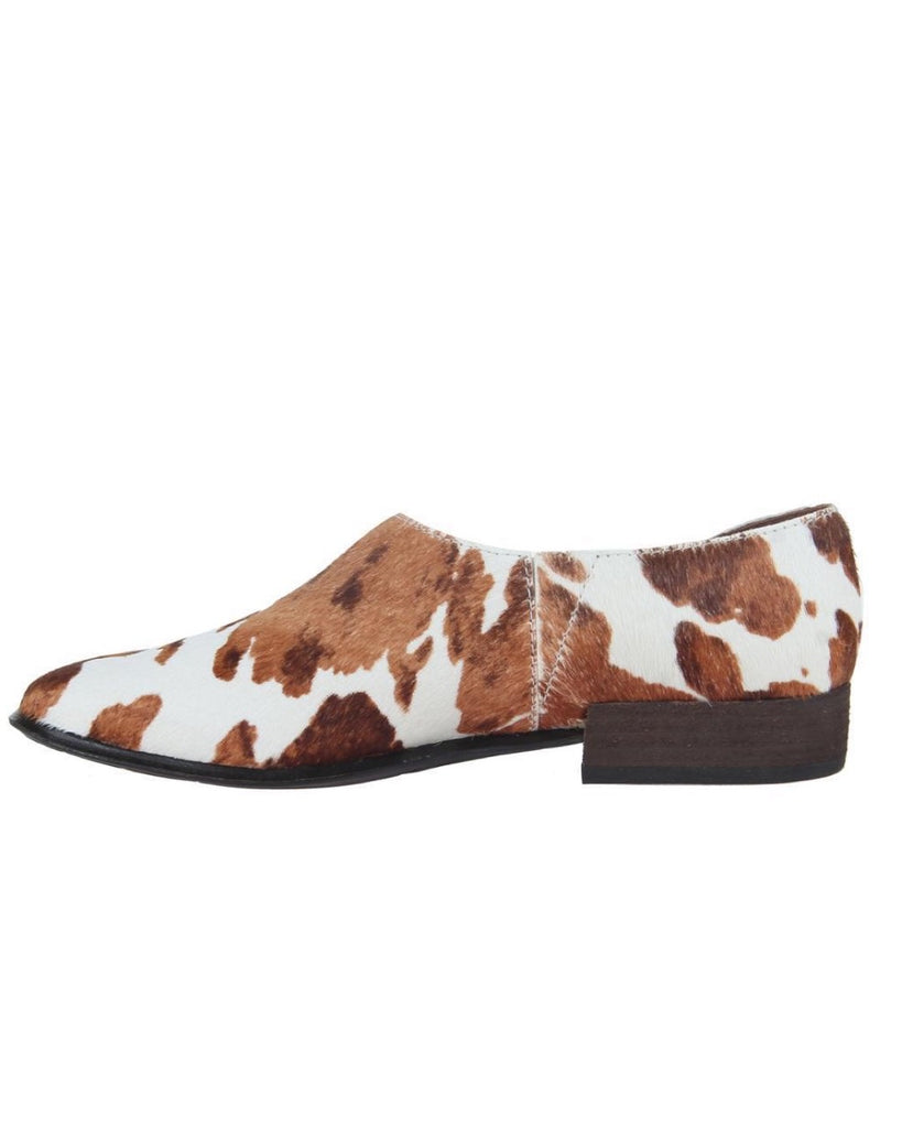 OTBT Coyote in Calf Print Ankle Boots