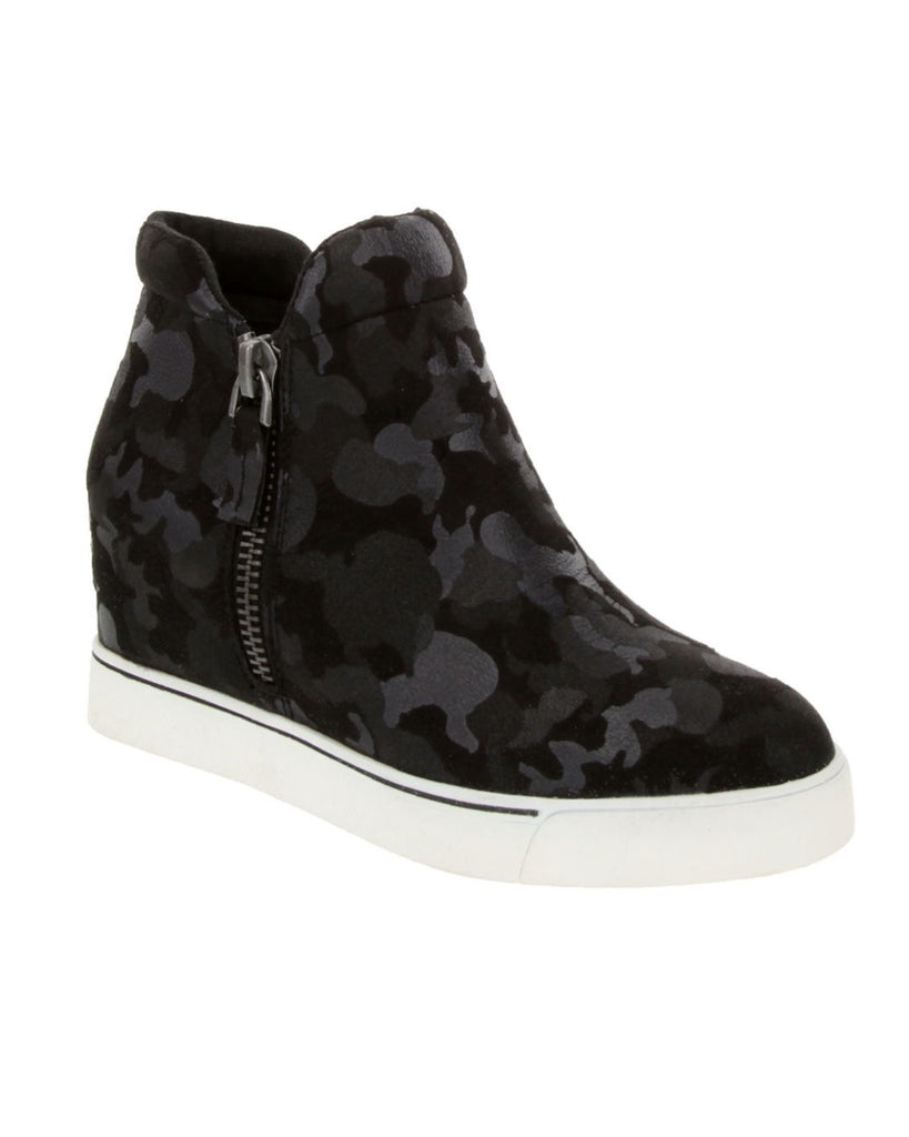 Sugar Glorify Black Camo Wedges