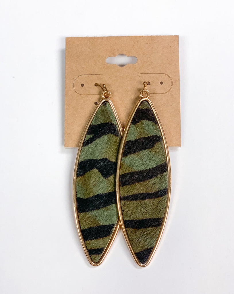 Tiger Striped Earrings