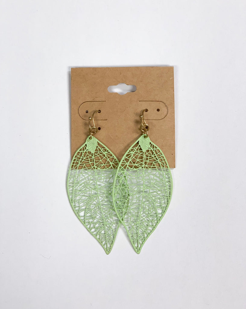 Mint Green Lace Earrings