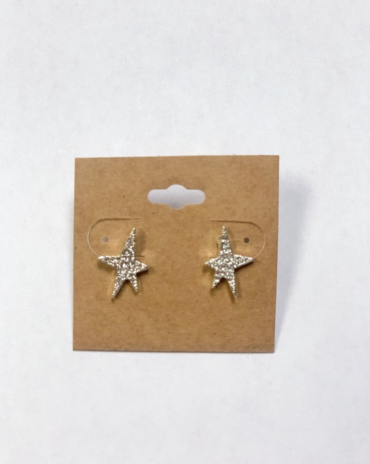 Alex Carol Star Asymmetrical Studs
