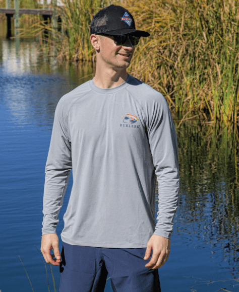 Burlebo Performance Long Sleeve - Let it Fly Gray